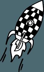 illustration fusée tintin